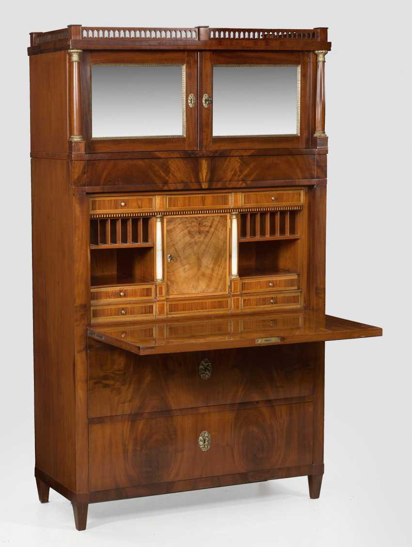 Biedermeier Secretary with secret compartments - photo 1