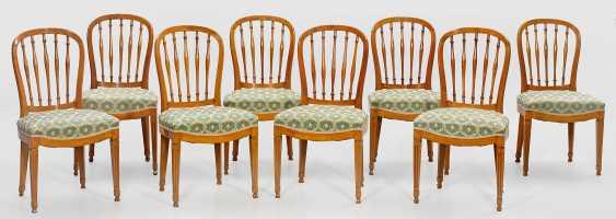 Set of eight Louis XVI chairs - photo 1