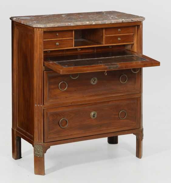 Signed Louis XVI writing chest of drawers by David Gabriel Stumpff - photo 1