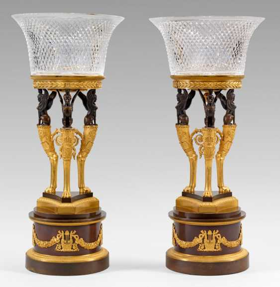 Rare Pair of courtly Empire centrepieces - photo 1