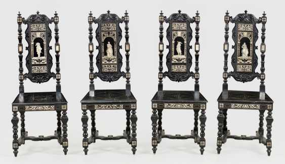 Four Neo-Renaissance Chairs - photo 1