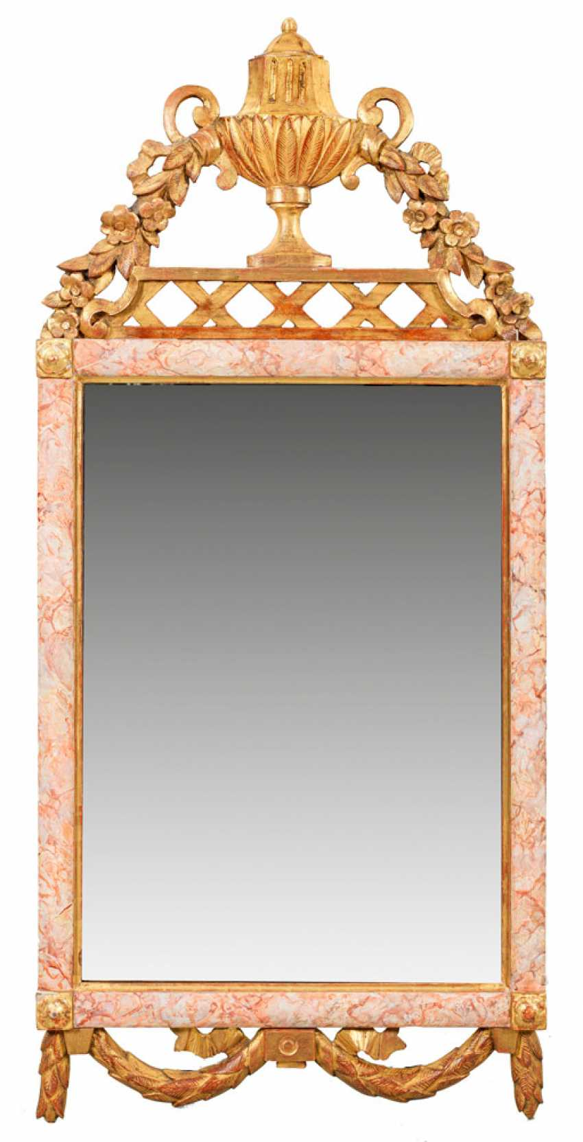 Rare Pair of Louis XVI wall mirror - photo 1