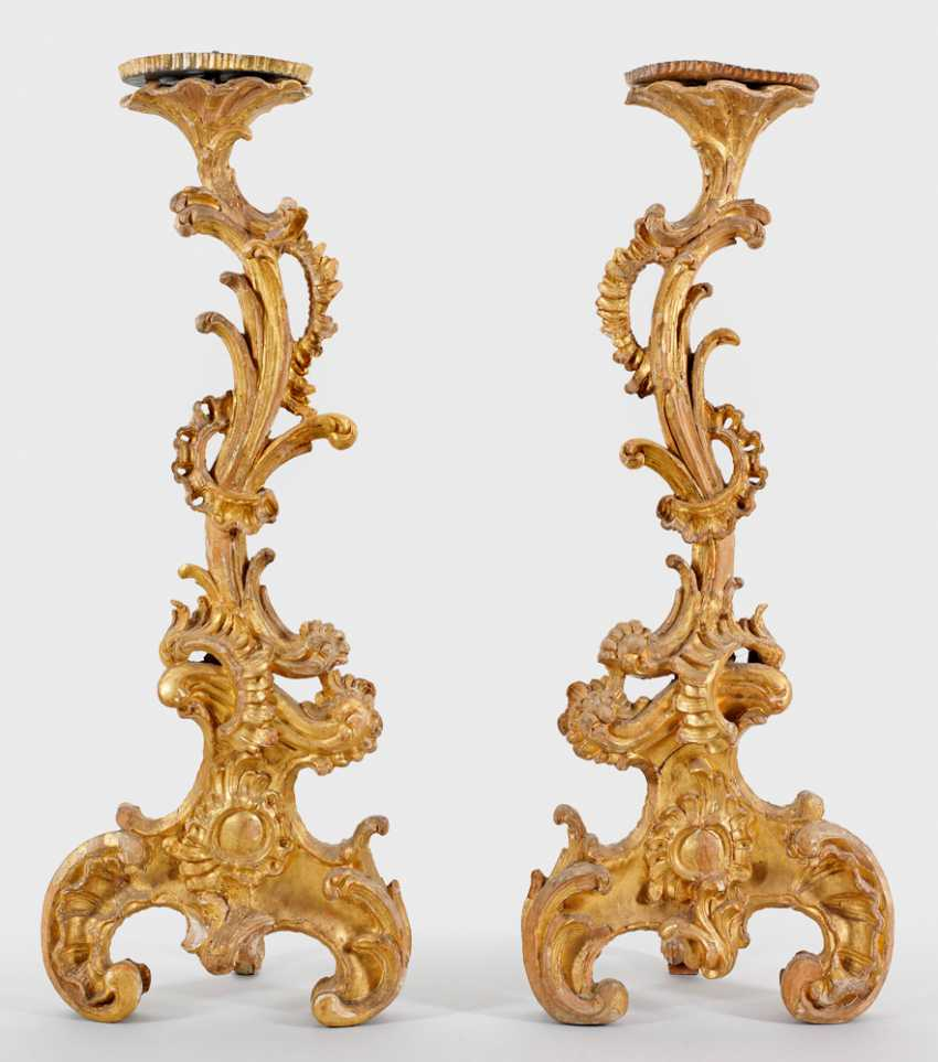 Pair of large Rococo chandelier - photo 1