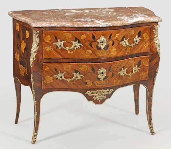 Signierte Louis XV-Kommode von Laurent Rochette - photo 1