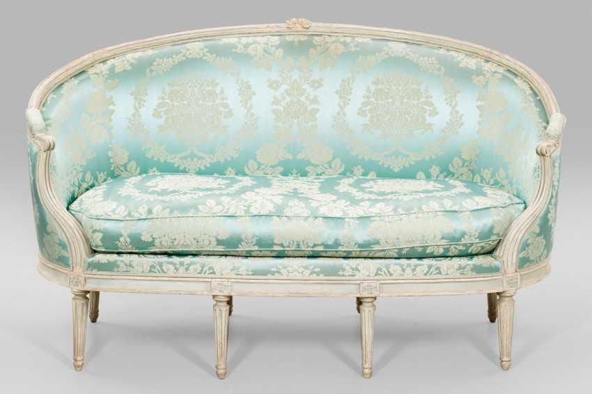 Signiertes Louis XVI-Sofa von Jean Pierre Dupont - photo 1