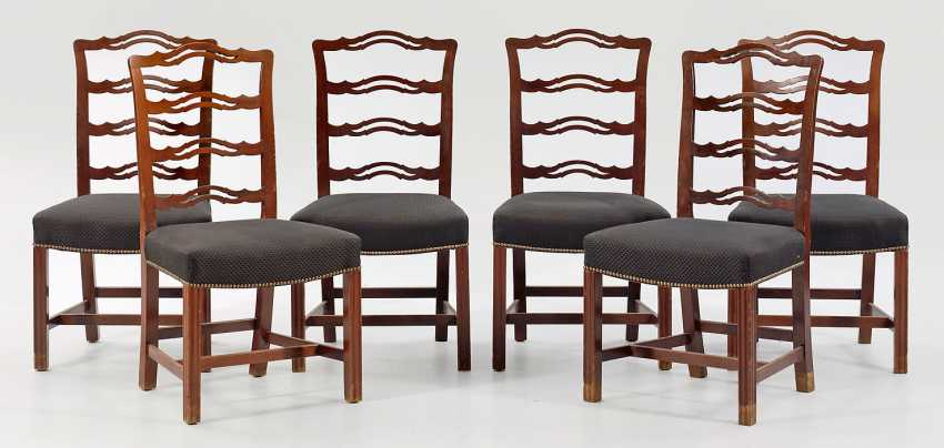 Set of six Chippendale chairs - photo 1