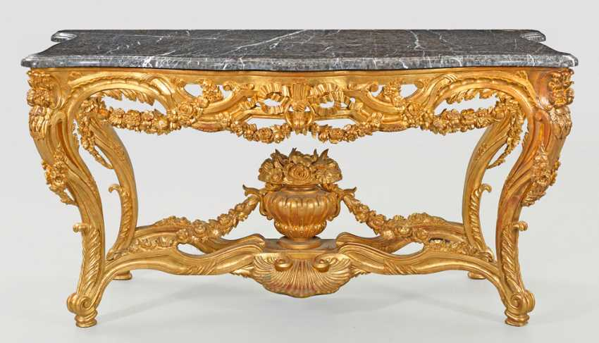 Imposing ceremonial console table in the Louis XV style - photo 1