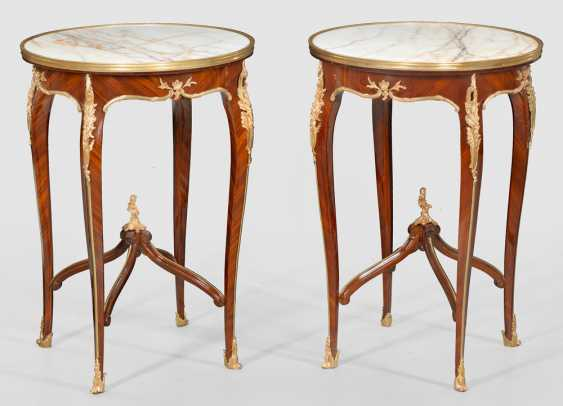 Pair of side tables in the Louis XV style - photo 1