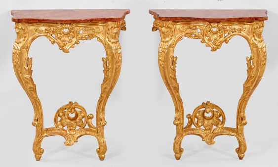 Pair Of Rococo Style Consoles - photo 1
