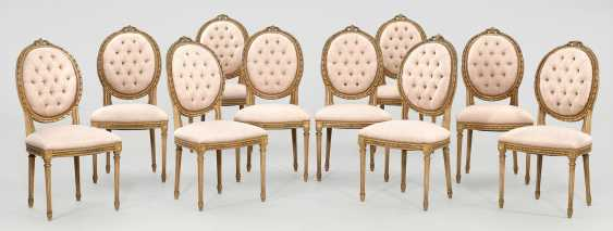 Set of ten chairs in the Louis XVI style - photo 1