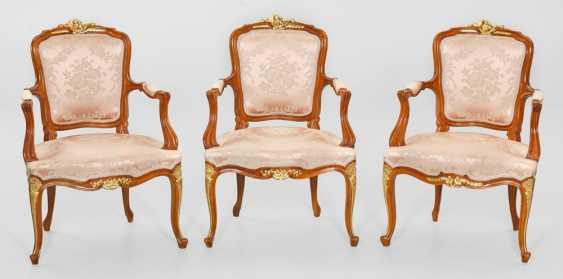 Three Louis XV armchairs - photo 1