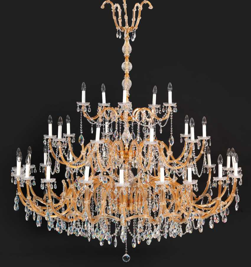 Monumental ceiling suspended chandeliers with Swarovski crystals - photo 1