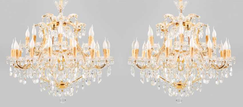 Pair of large Maria Theresa chandelier - photo 1