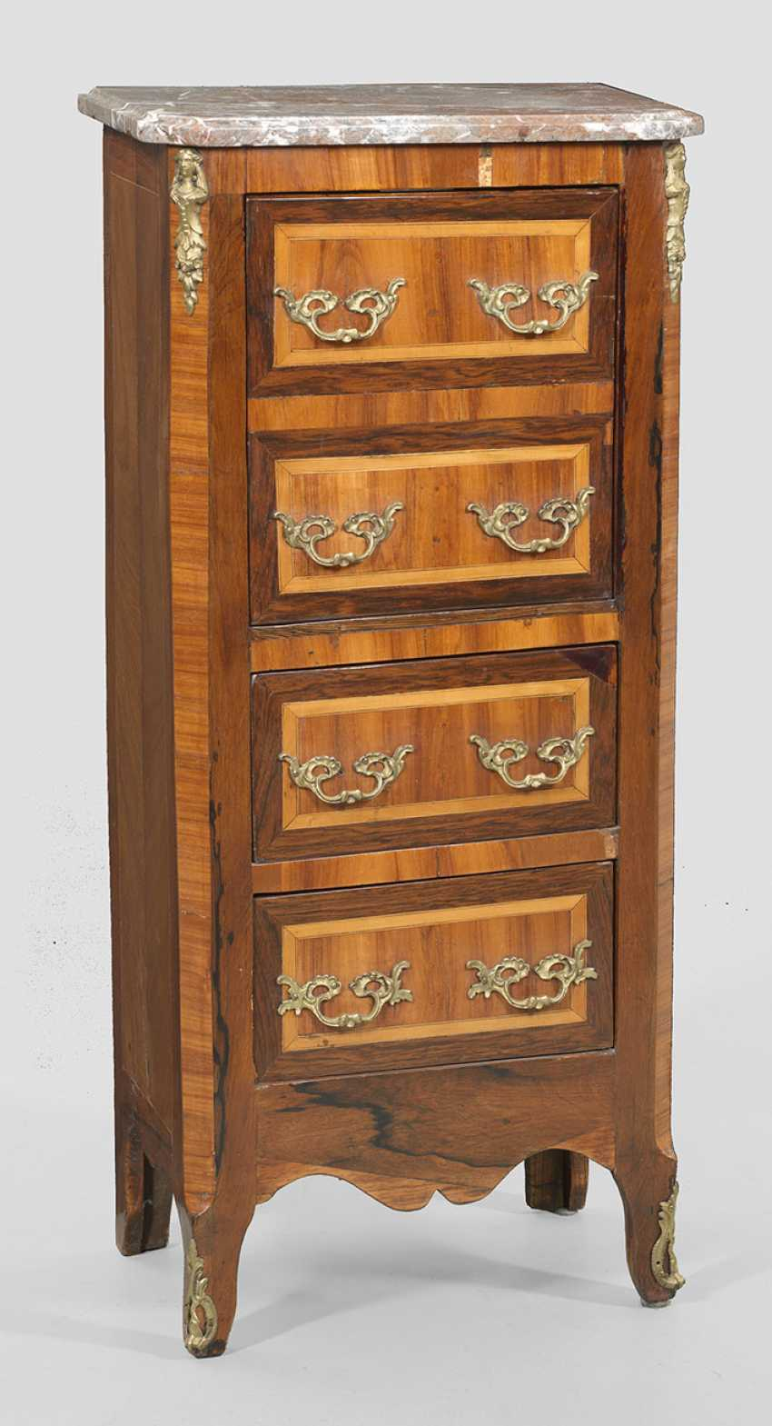 Small Louis XVI-arrow chest of drawers - photo 1