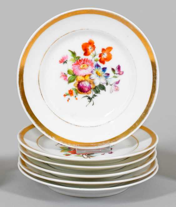 Six Biedermeier dish with floral decor - photo 1