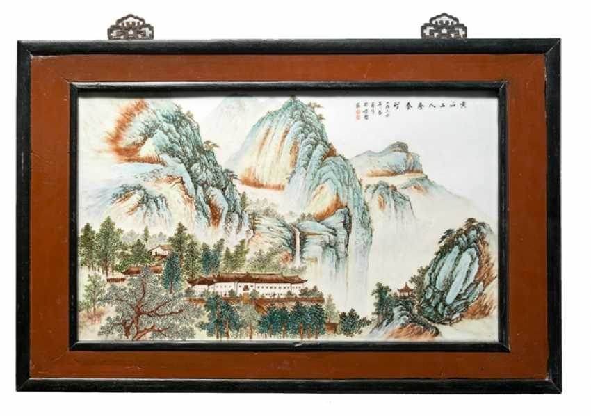 Porcelain picture plate with a representation of the Huangshan - photo 1