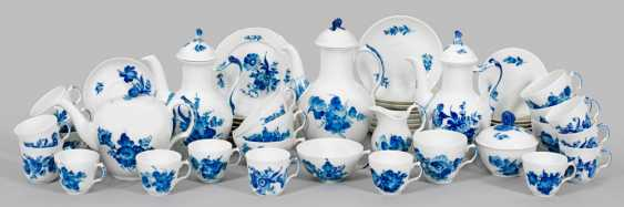"""Coffee and tea service with decoration of the """"blue flower"""" - photo 1"""