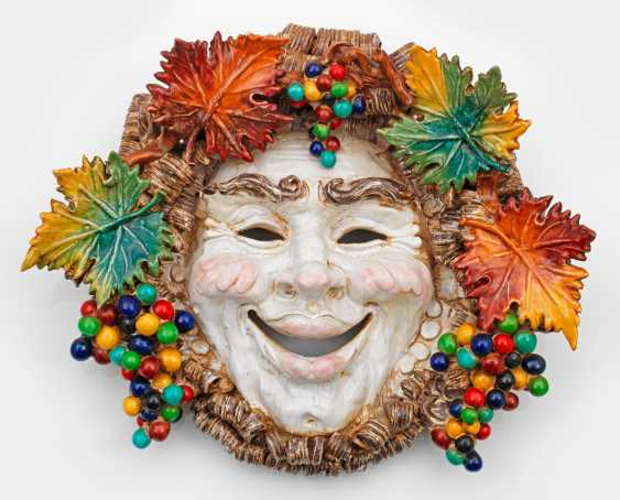Large wall mask with Bacchus head - photo 1