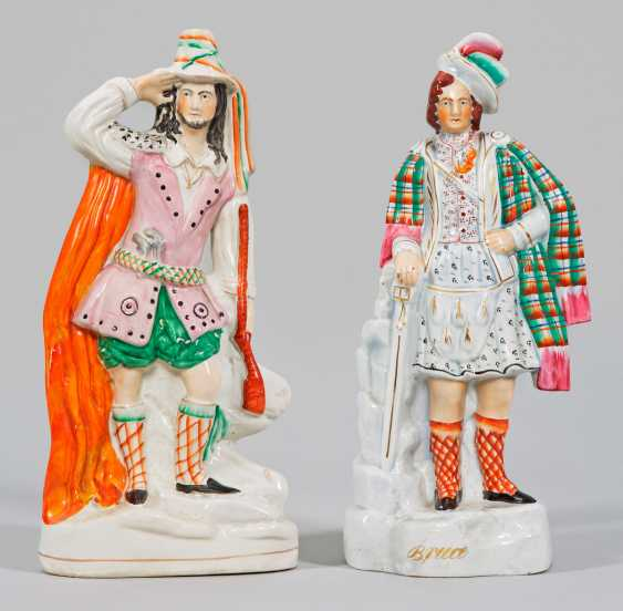 Two large Victorian Staffordshire figures - photo 1