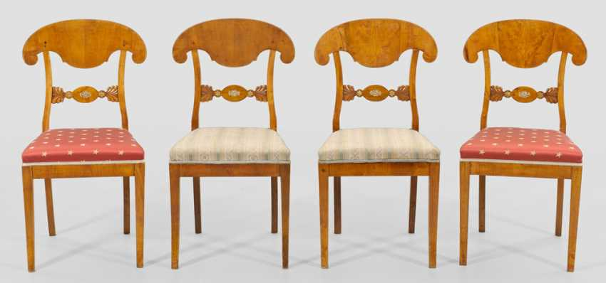 Set of four Biedermeier chairs - photo 1