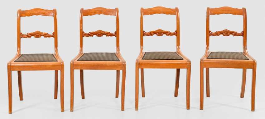 Set of four Biedermeier chairs - photo 1