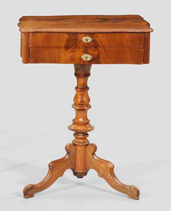 Louis Philippe Sewing Table - photo 1