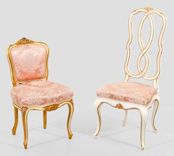 Two Boudoir chairs in the Rococo style - photo 1