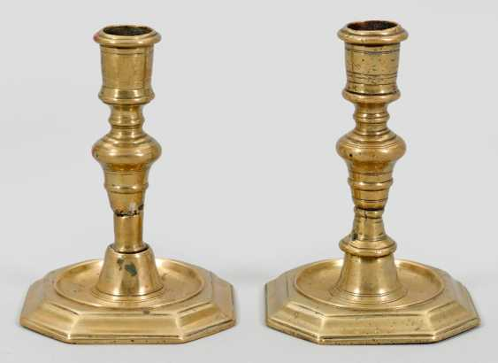 Pair of small Baroque candelabra - photo 1
