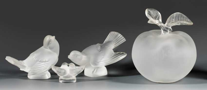 Four Lalique Glass Objects - photo 1
