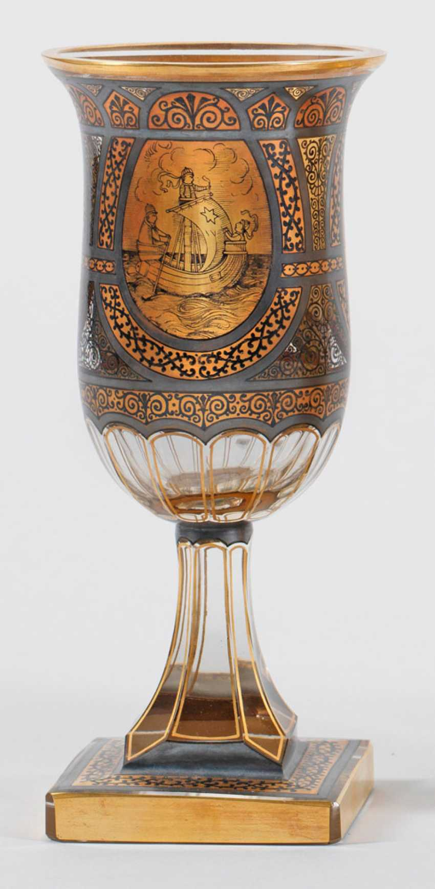 Cup with rich Gold and black painting - photo 1