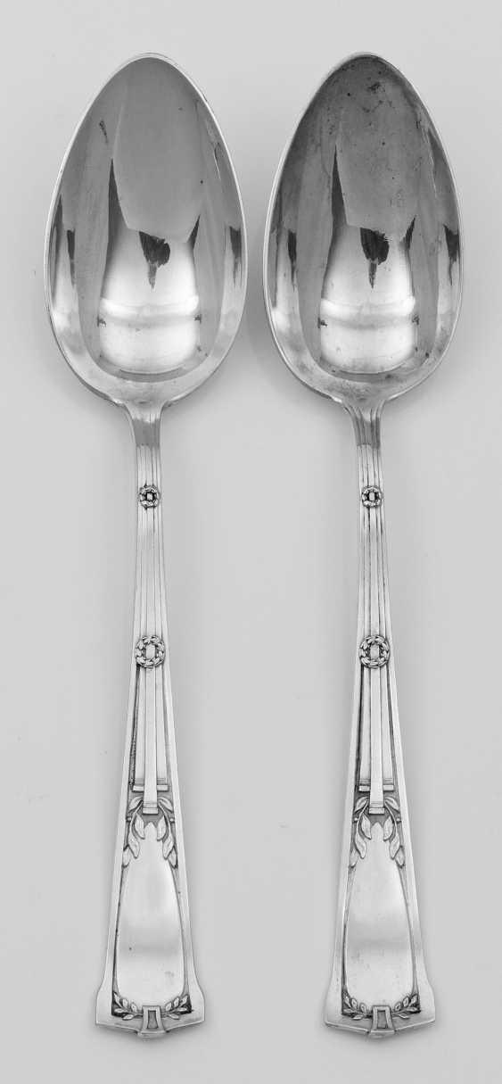 Twelve Art Nouveau Dining Spoon - photo 1
