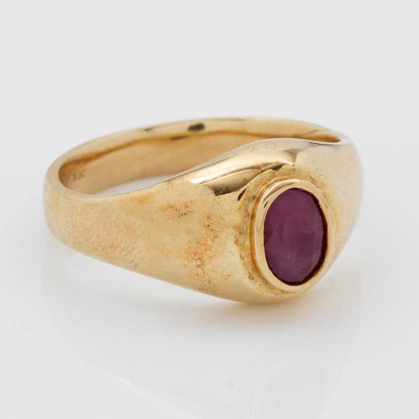 Classic Ruby Band Ring - photo 1