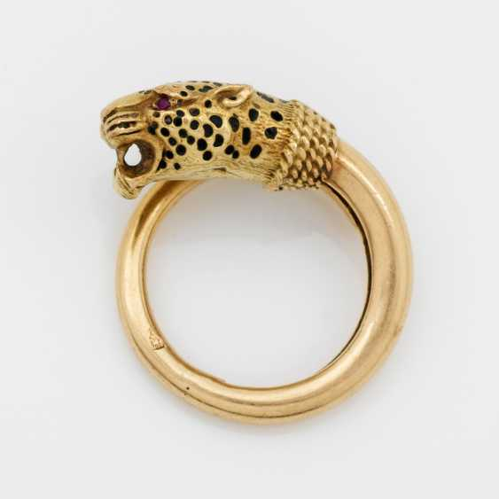 Decorative Panther Head Ring - photo 1