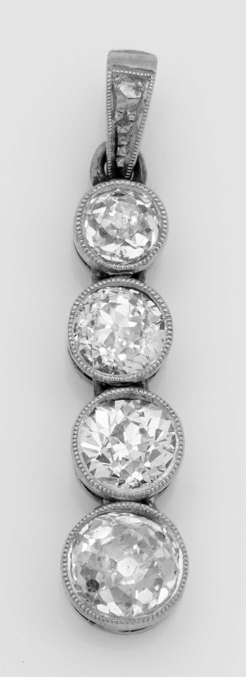 Art Deco Diamond Pendant - photo 1