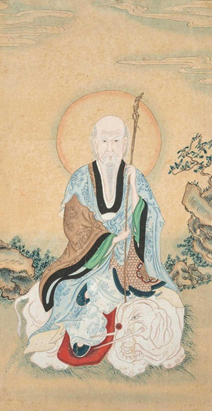 Three Buddha - and Luohan Portraits - photo 2