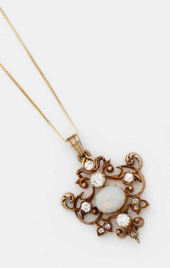 Belle Epoque-Opal-Diamantanhänger - photo 1