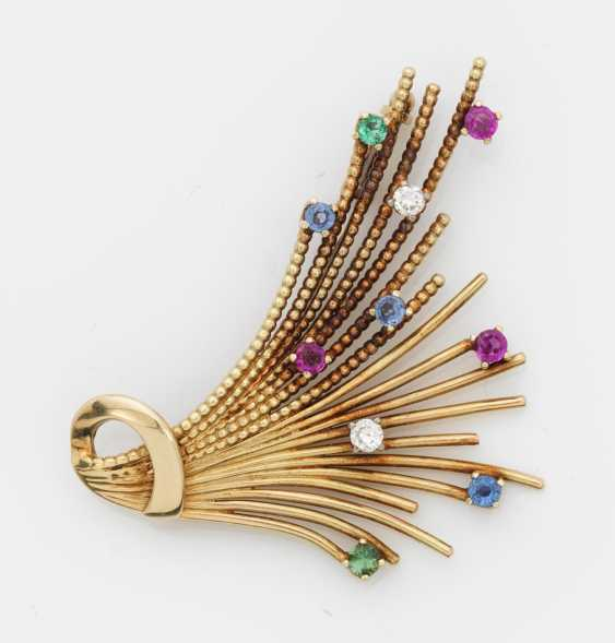 Multicolor brooch from the 50s - photo 1