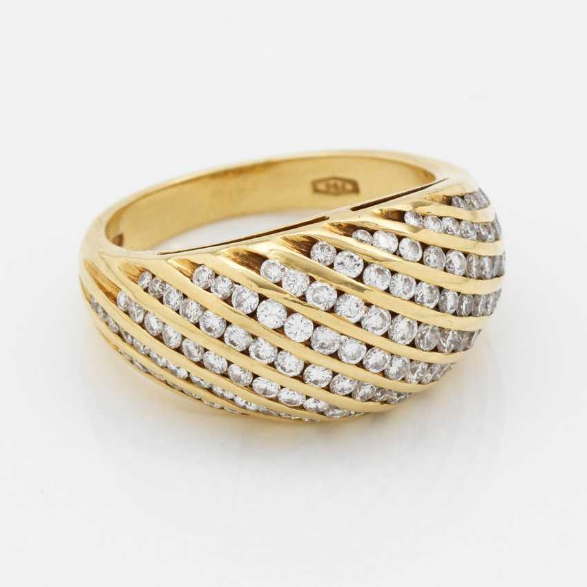 Elegant cocktail ring with diamond trimming - photo 1