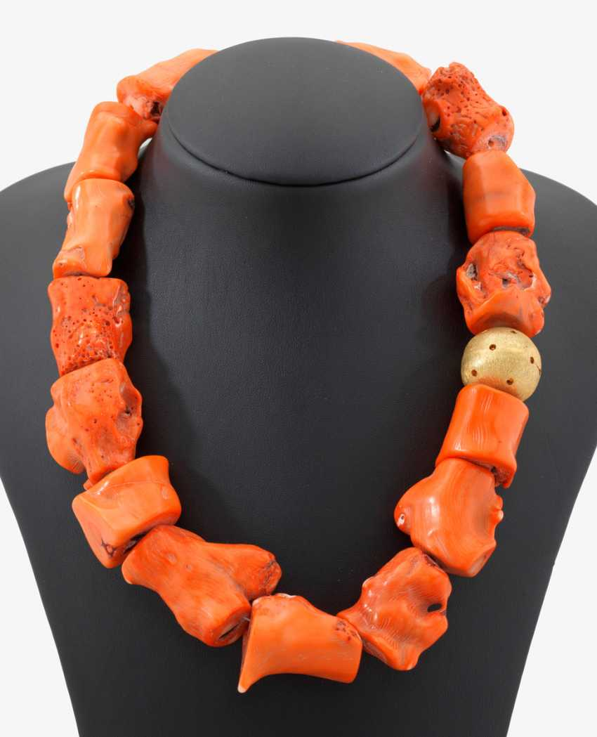 Unusual Bamboo Coral Necklace - photo 1