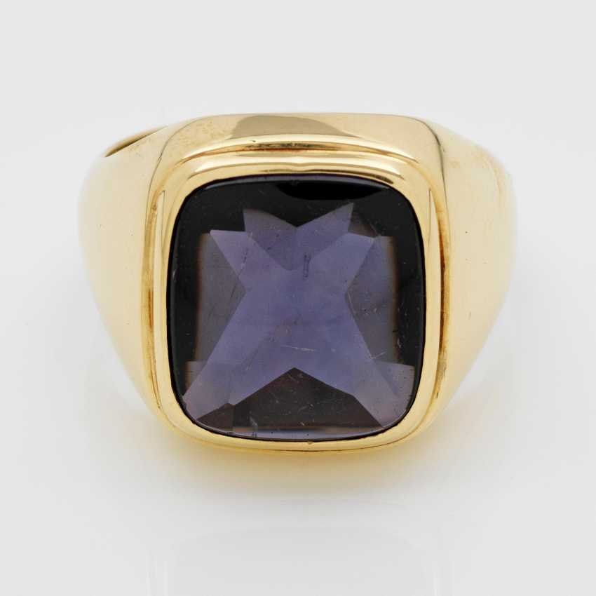 Men's ring with Amethyst - photo 1