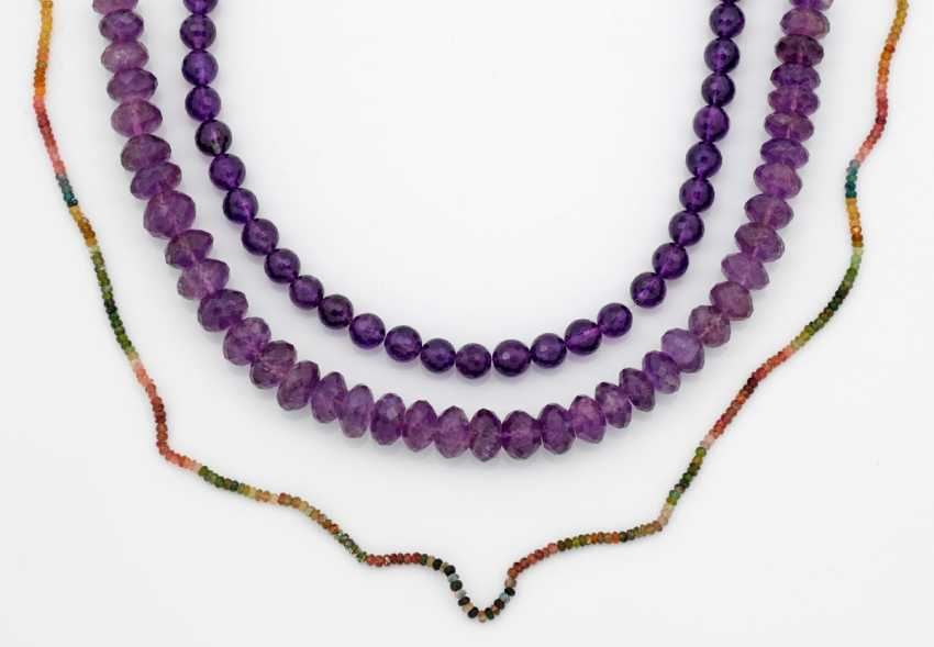 Three Amethyst Chains - photo 1