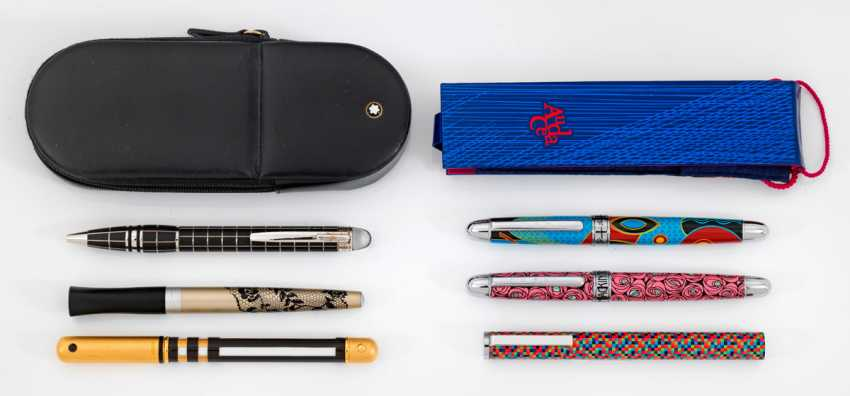 Collection of six pens with case - photo 1