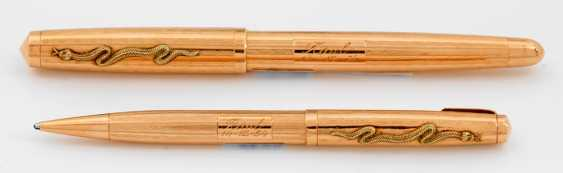 Gold fountain pen and pencil Parker - photo 1