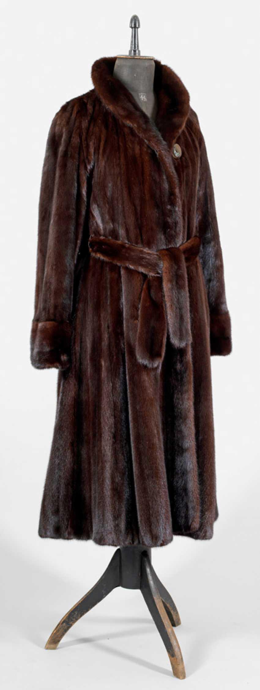 Long Ladies Mink Coat - photo 1