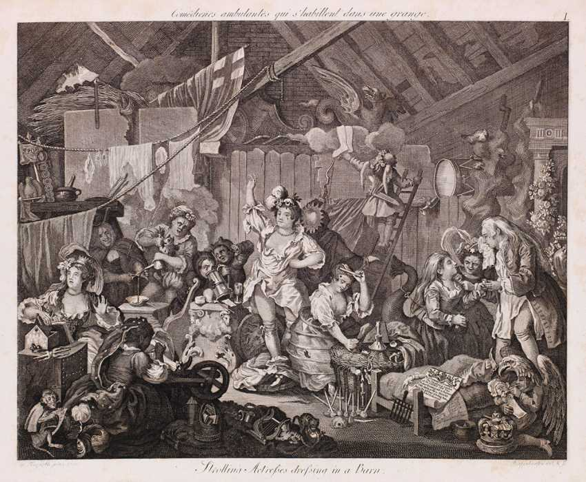 Hogarth's works in scaled-down but complete copies - photo 1