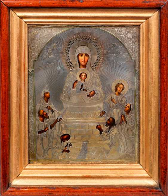 """Oklad Icon """"Mother Of God Life-Giving Spring"""" - photo 1"""