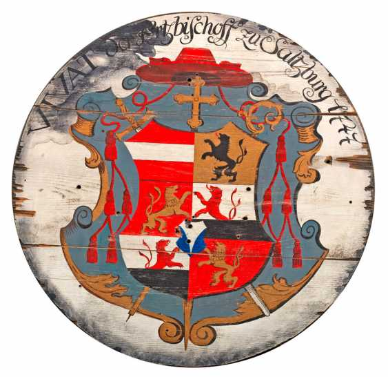 Disk protect with a coat of arms of the Prince-Archbishopric of Salzburg - photo 1