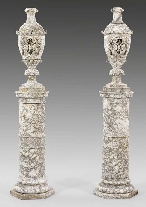 Pair of large Belle Epoque-vases with pedestal bases - photo 1