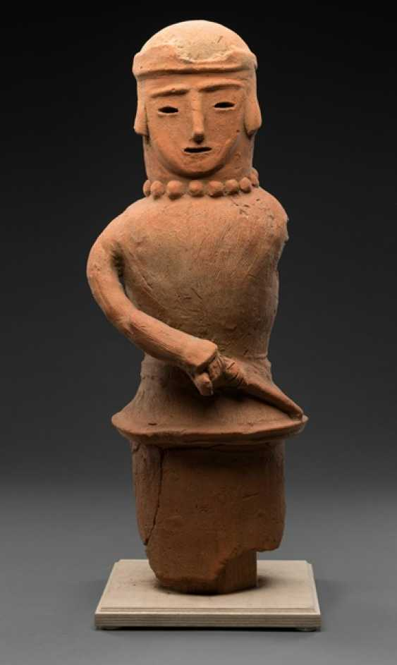 Haniwa figure made of red clay, probably the representation of a shaman - photo 1