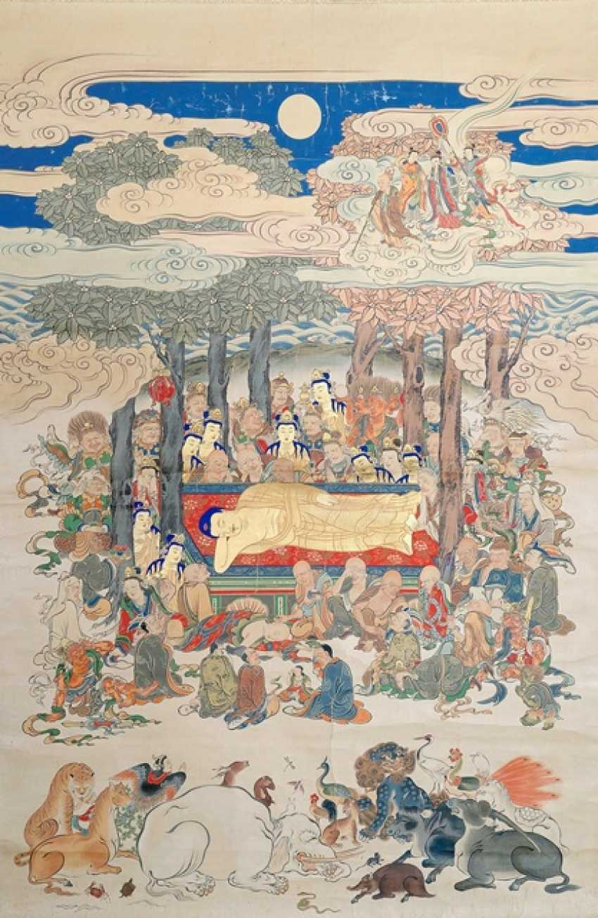 Anonymous Buddhist painting with Nehanzu motif - photo 1